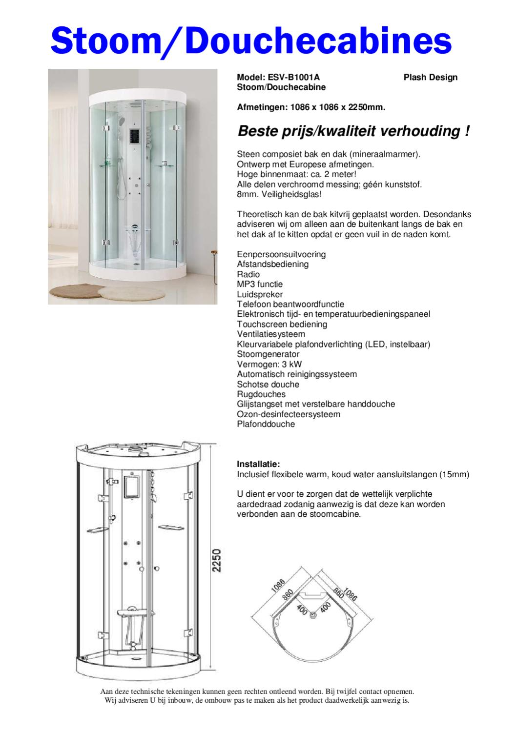 Douchecabine Kitten Buitenkant Stoomdouchecabines 2011 By Esv Sanitair Issuu