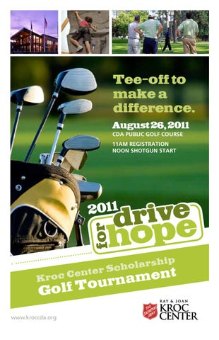 The Salvation Army Kroc Center 2011 Golf Tournament Brochure by The