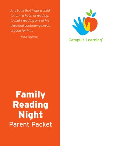 CL Parent Workshop - Family Reading Night by Catapult Learning - issuu
