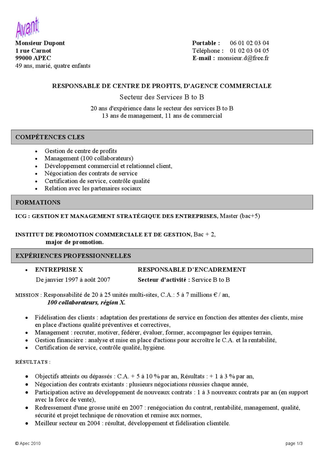 competences cles negociation cv