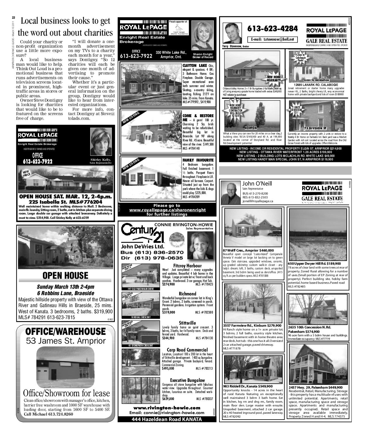 Pakenham Storage Arnprior Chronicle Guide