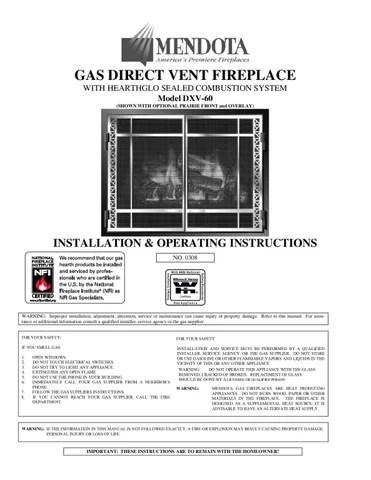 Mendota Gas Fireplaces by Smoke Fire