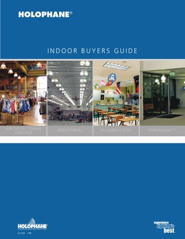 Holophane Indoor Product Catalog by Alcon Lighting - issuu