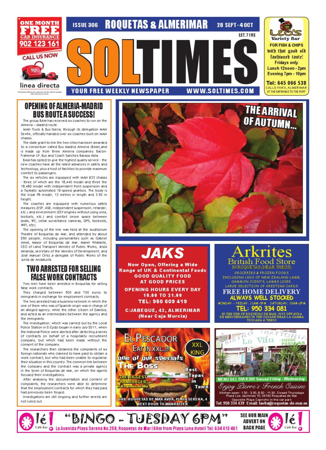 Xxl Sessel Roqu Sol Times Newspaper Issue 306 Roquetas Edition