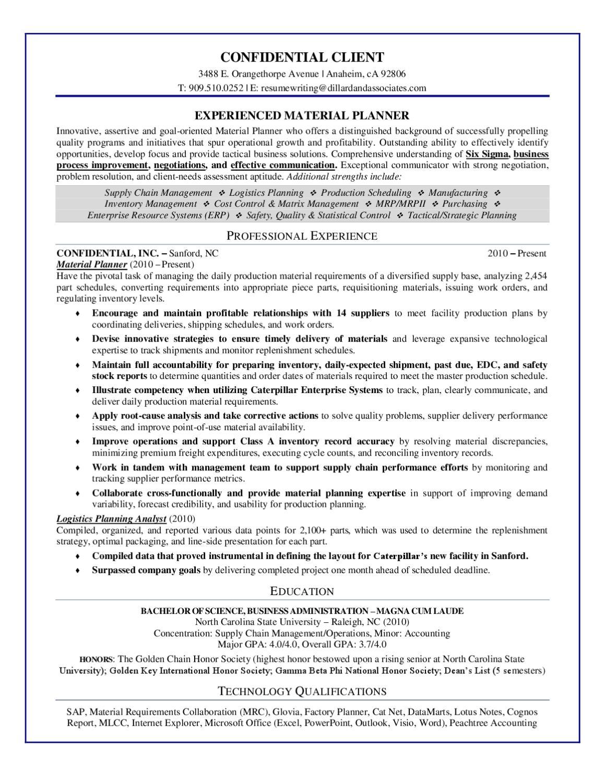 Medical Coding Resume Sample Resume My Career Sample Resume Experienced Material Planner By Dillard