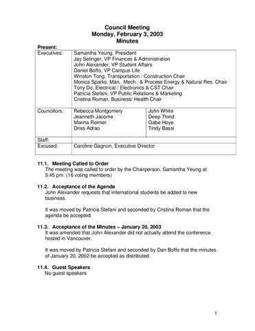 10 Council Meeting minutes Feb 3-03 by BCITSA BCITSA - issuu