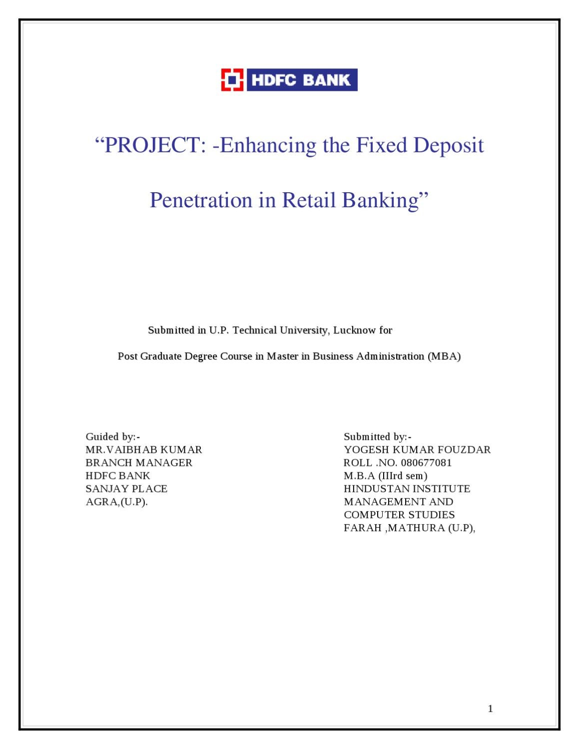 project profile format for bank loan