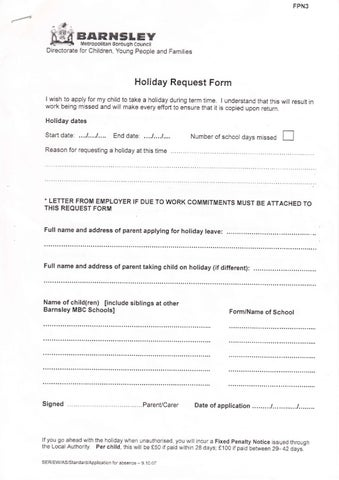 Holiday Request Form by Kate Davies - issuu - holiday request form