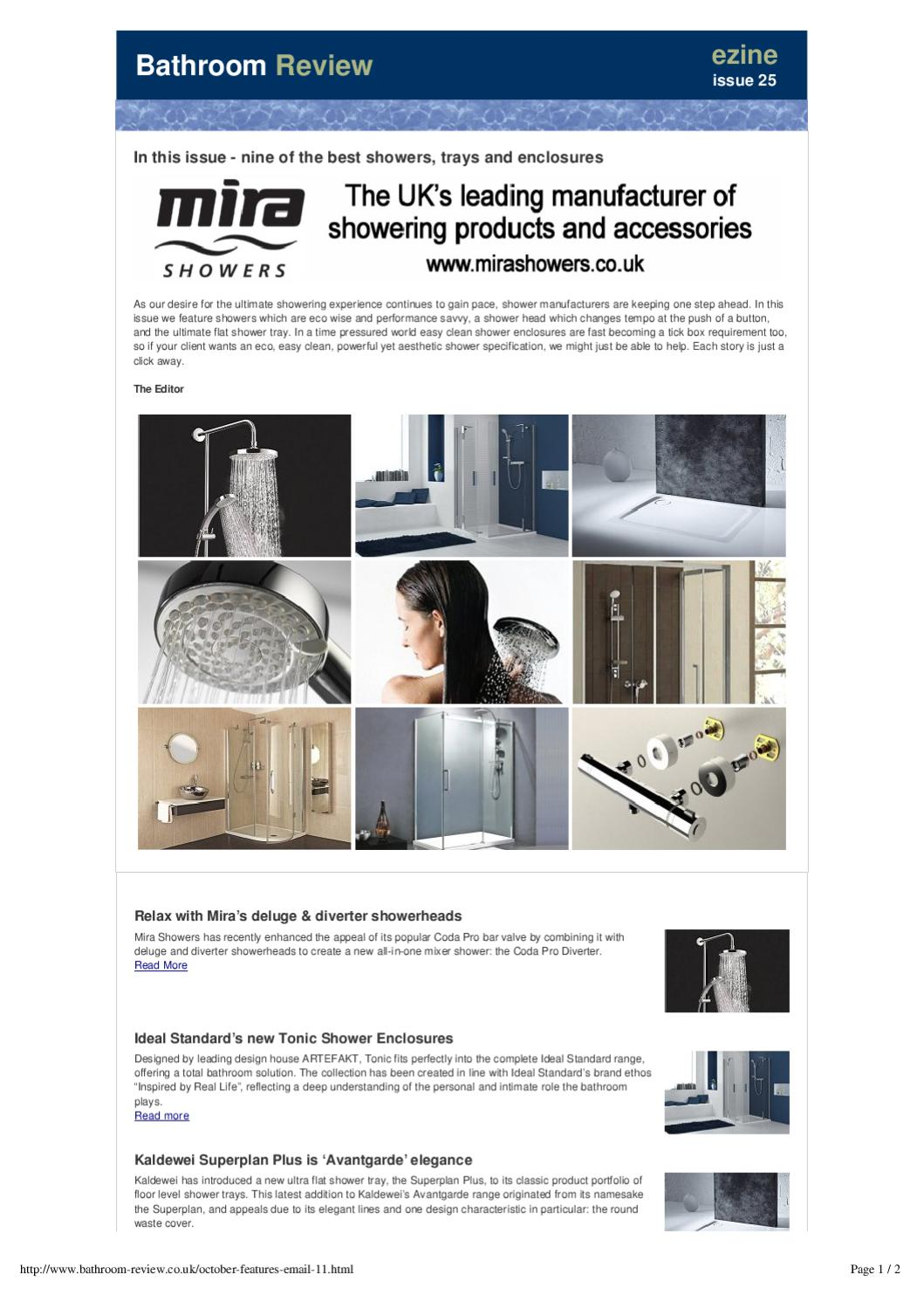 Kaldewei Superplan Plus Nine Of The Best Showers Trays And Enclosures By Andy Owen Issuu
