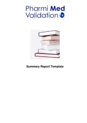 Summary Report Template Sample by Pharmi Med Ltd - issuu - sample summary report template