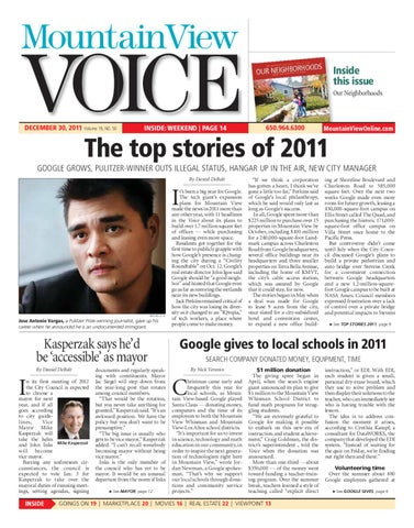 Mountain View Voice 12302011 - Section 1 by Mountain View Voice