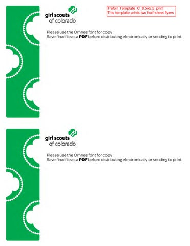 Girl Scouts of Colorado General Flyer Templates by Girl Scouts of