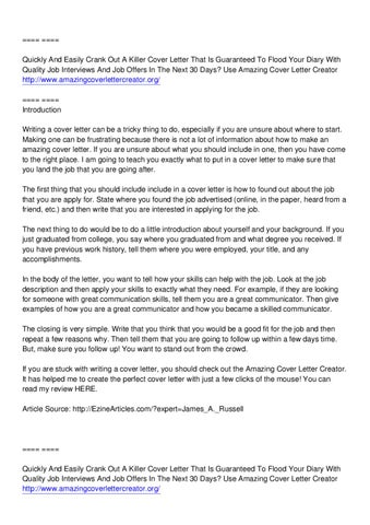 amazing cover letter creator jimmy sweeney by arthur smith - issuu