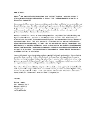 Paul Lukez Architects Cover Letter by Michael Fahey - issuu - architecture cover letter