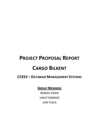 Project Proposal Report by Berkay Aydin - issuu