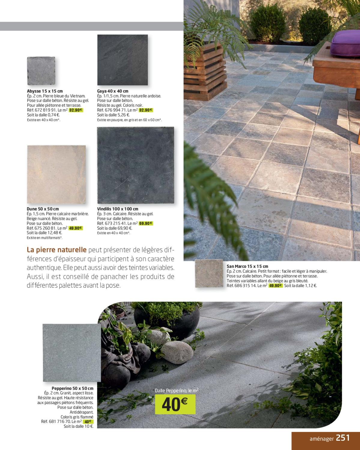 Dalle Terrasse 40 X 40 Catalogue Jardin Leroy Merlin By Marcel Issuu