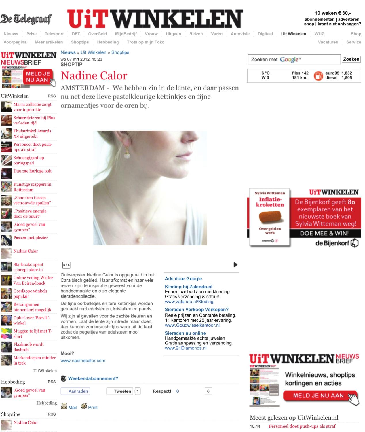 Www Zalando Nl Retourneren Nadine Calor At Telegraaf By Eva Peters Issuu