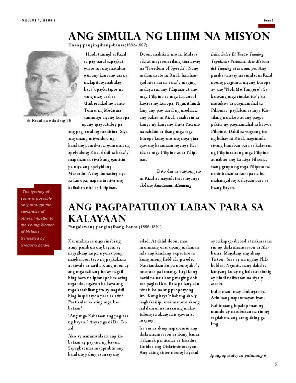 Dr Jose Rizal The Continuing Relevance Today By Carmina Chu Issuu