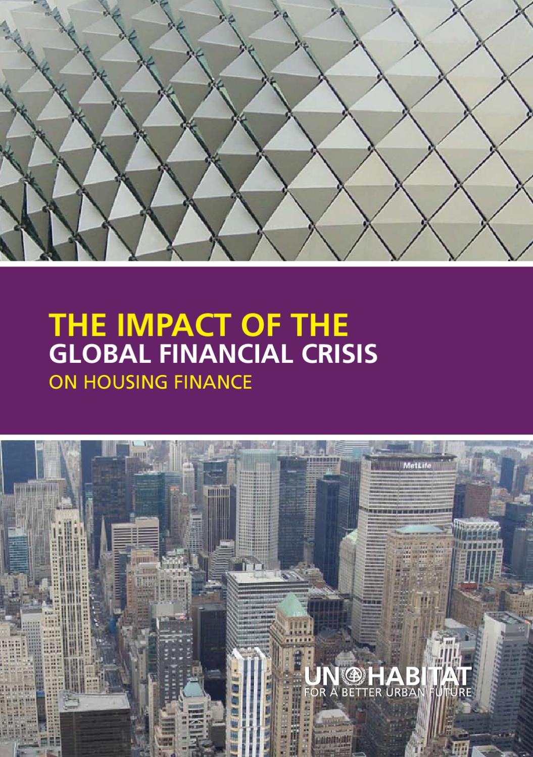 Habitat Outlet Hamburg Impact Of Global Financial Crisis On Housing Finance By Un Habitat