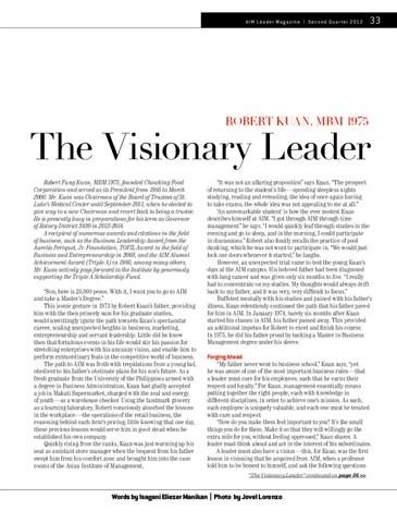 AIM Leader Second Quarter 2012 by AIM Alumni Publication - issuu