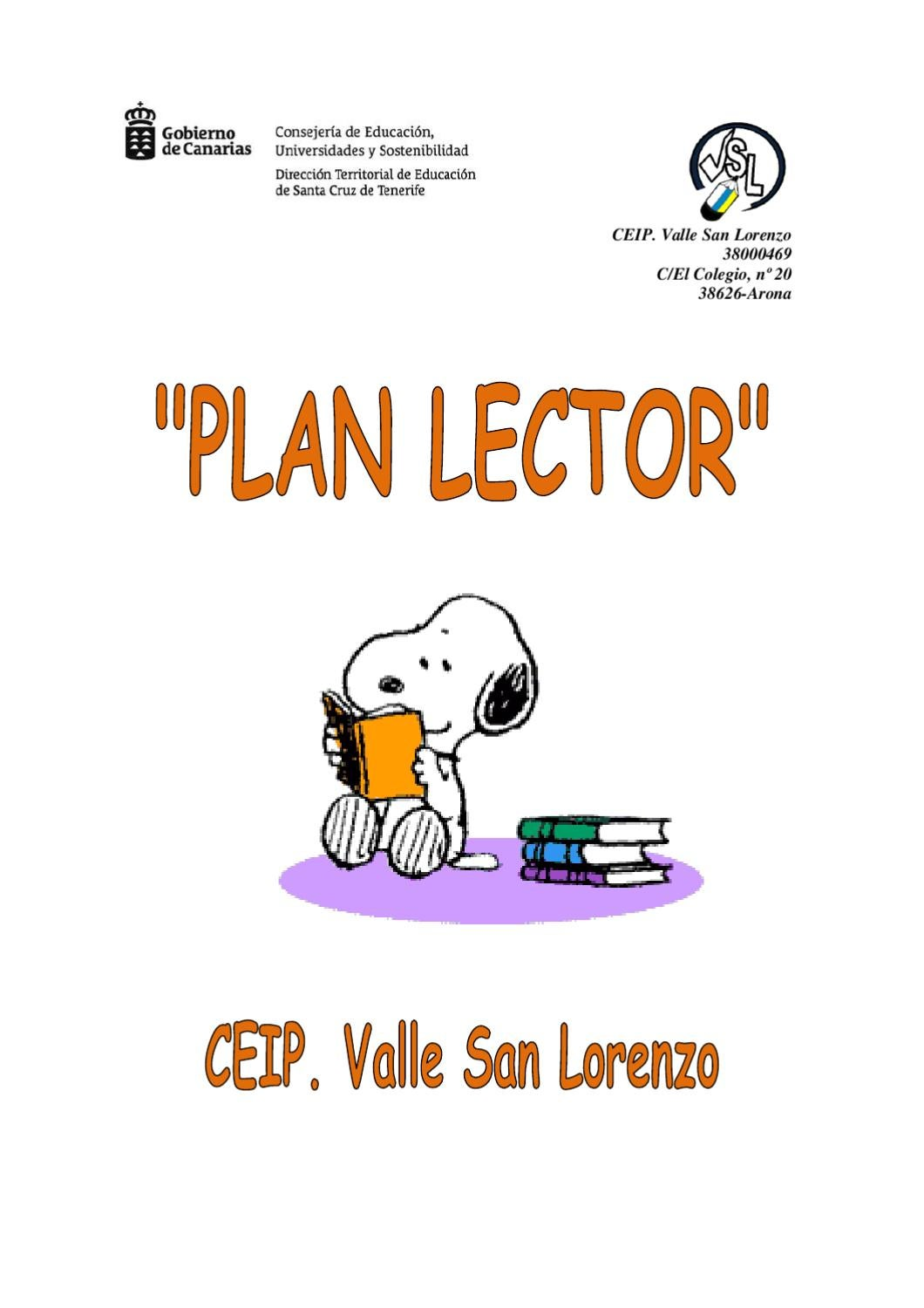 Lector De Libros Color Plan Lector By Ceip Valle San Lorenzo 38000469 Issuu