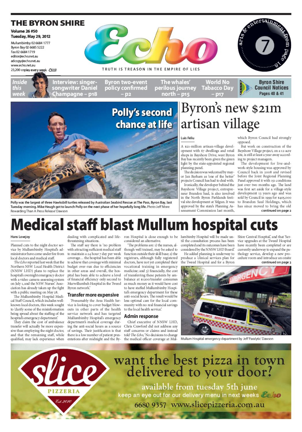 Cabinet Medical Persan Byron Shire Echo Issue 26 50 29 05 2012