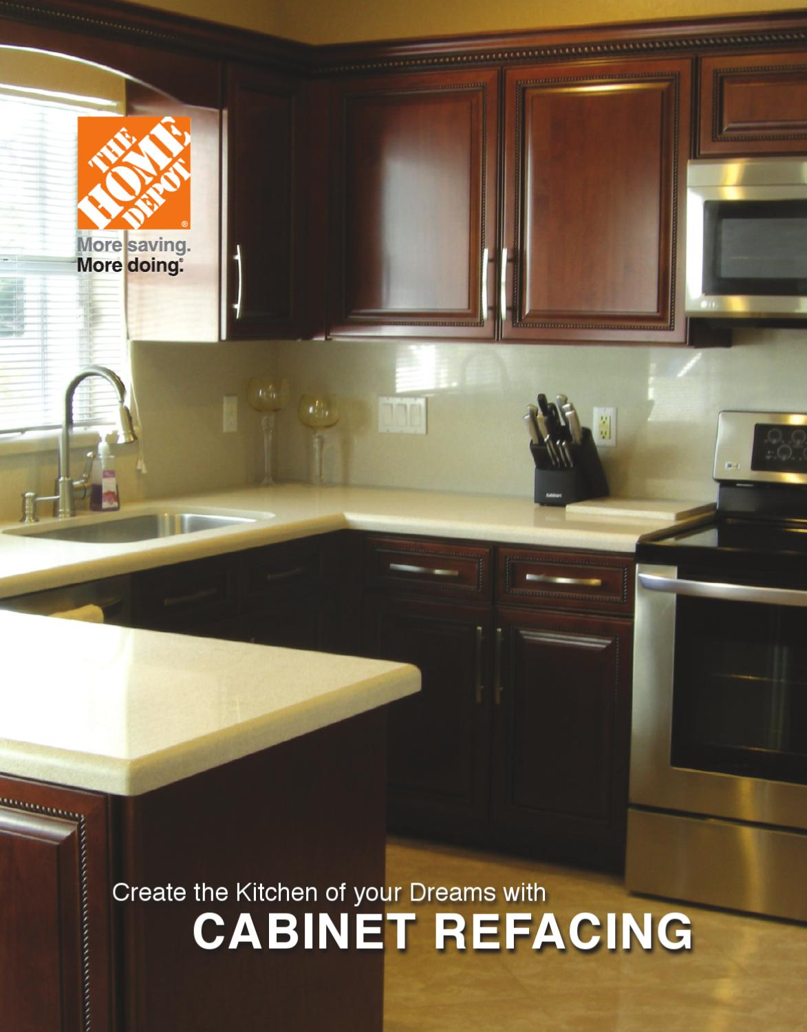 Thermofoil Kitchen Cabinets Home Depot The Home Depot Cabinet Refacing Brochure By Us