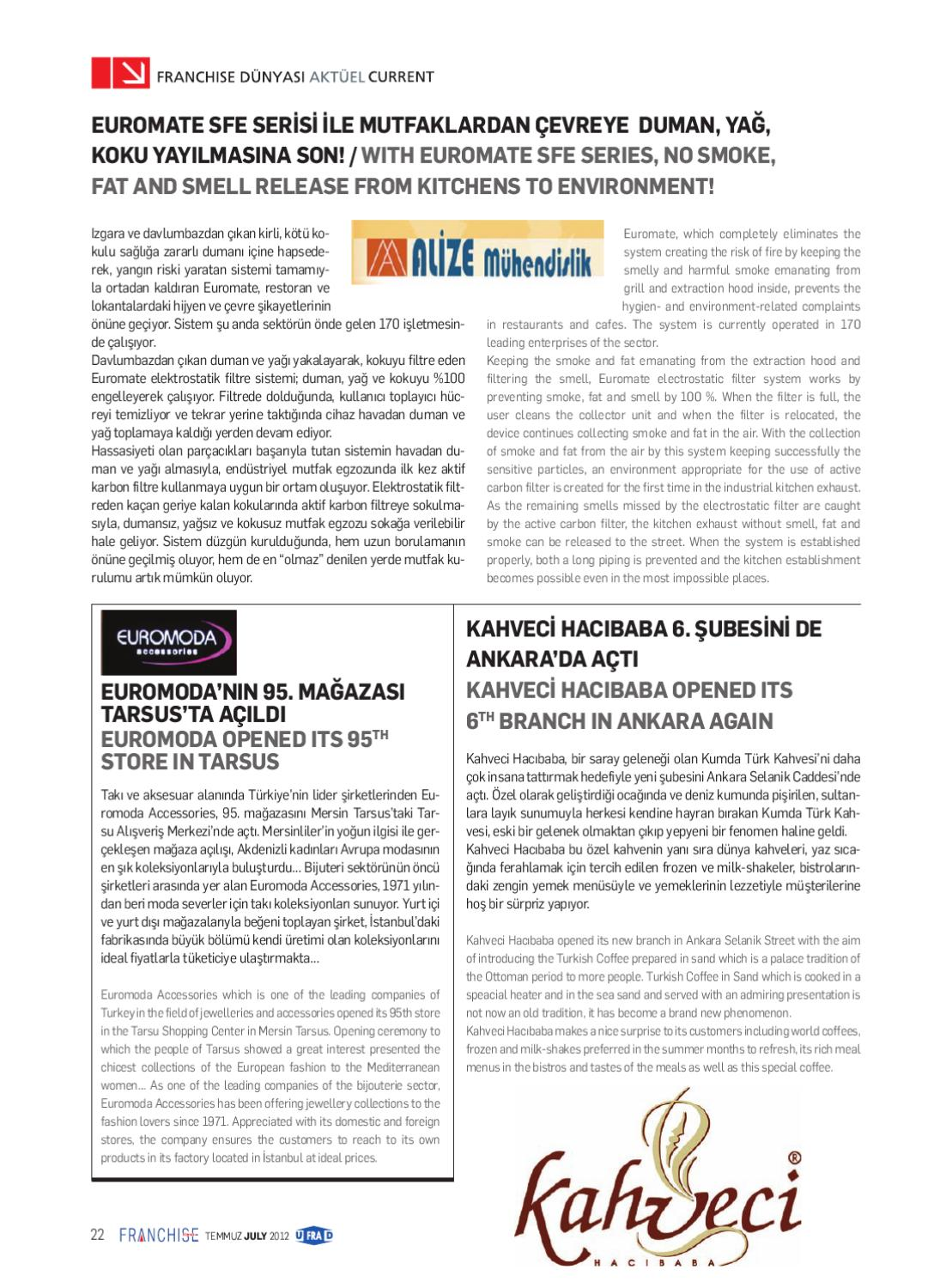 Euromate Grill Franchise World Issue July 2012 By Ferhat Gedik Issuu