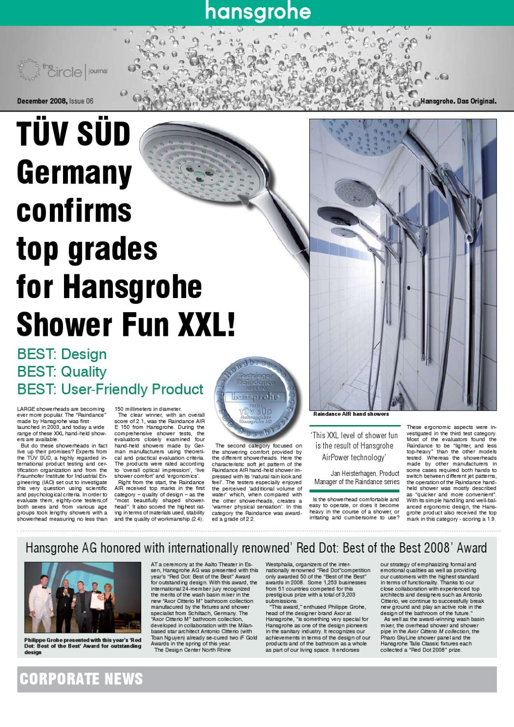 Hansgrohe Ag The Circle Hansgrohe By Jimmy Mavroudis Issuu