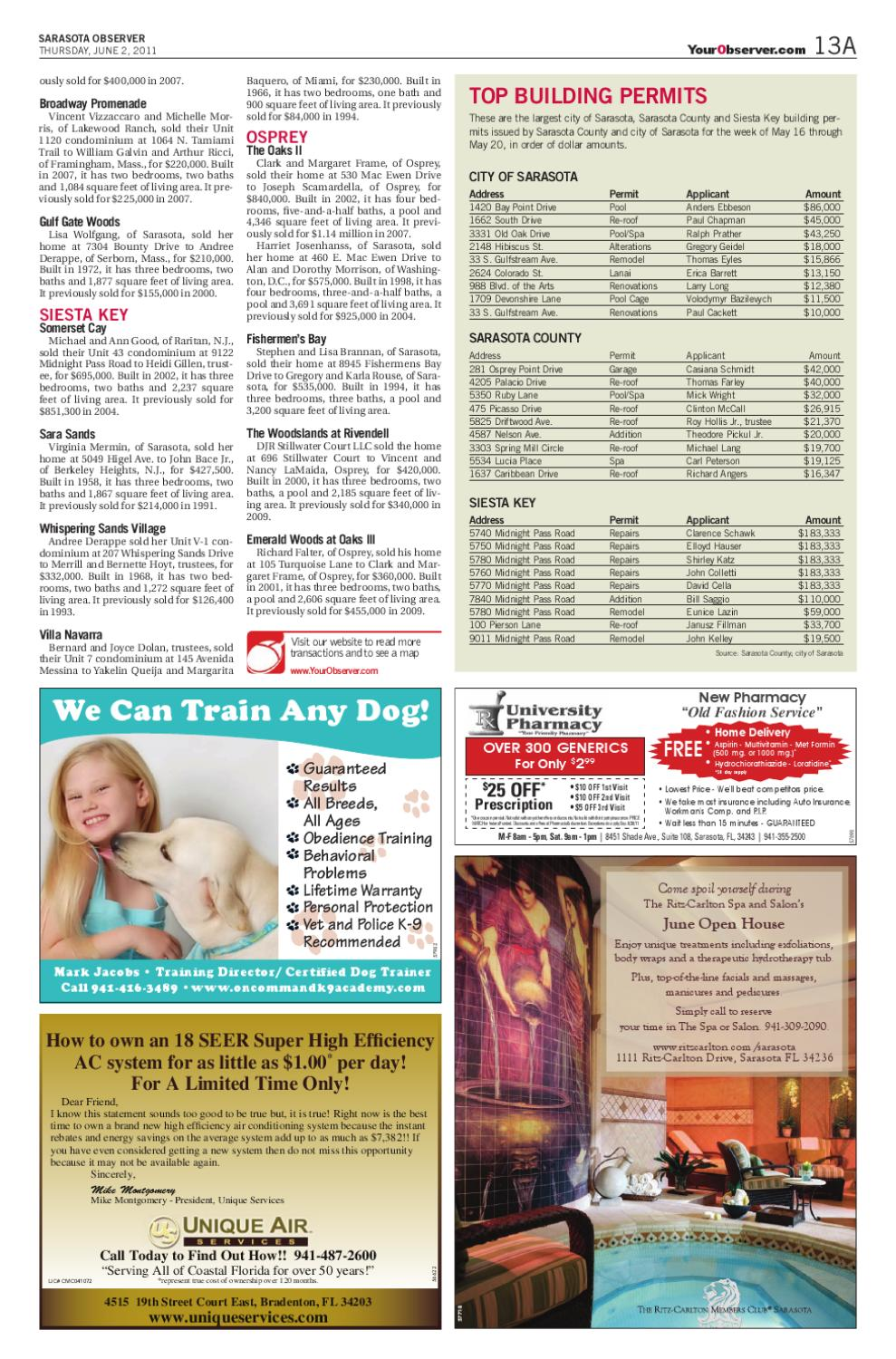 Salon De Massage Angers Sarasota Observer June 2 2011 By Jessica Luck Issuu