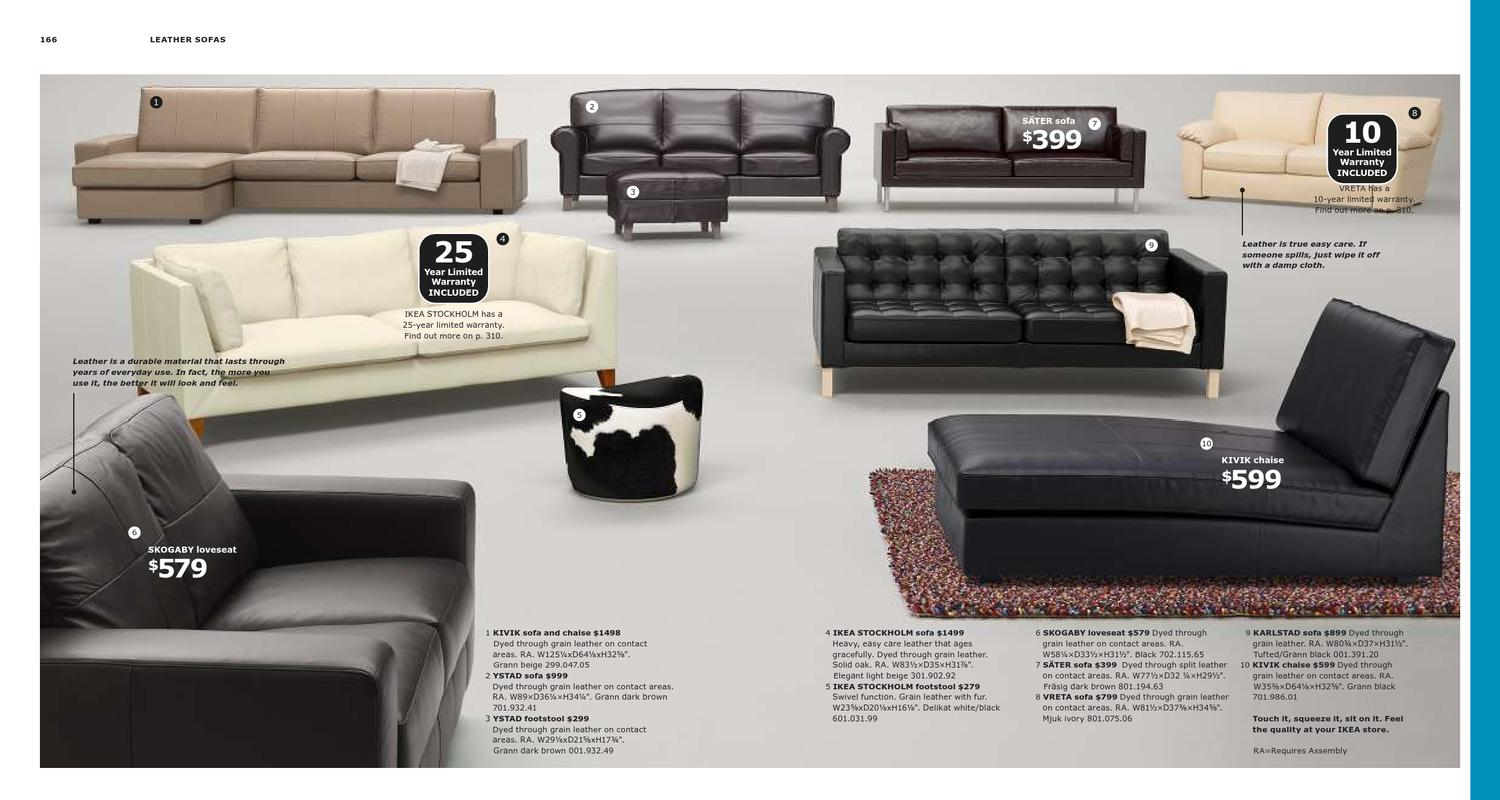 Kivik Sofa Leather Ikea Catalog 2013 Us
