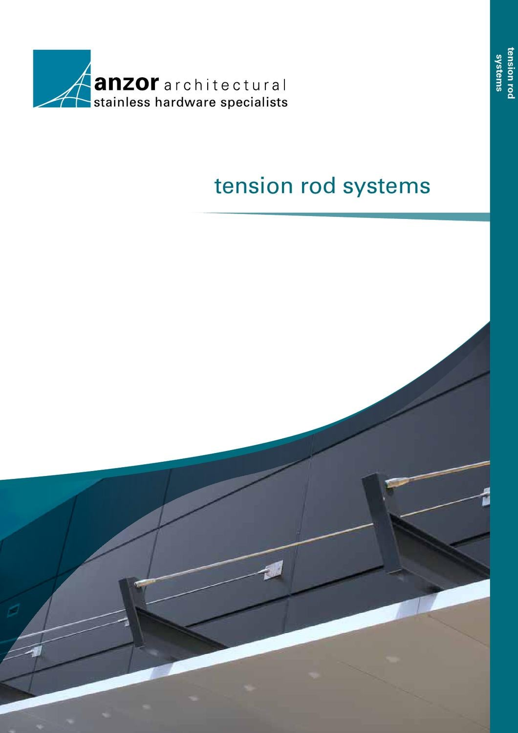 Tension Rod Australia Stainless Steel Tension Rod Systems By Anzor Fasteners