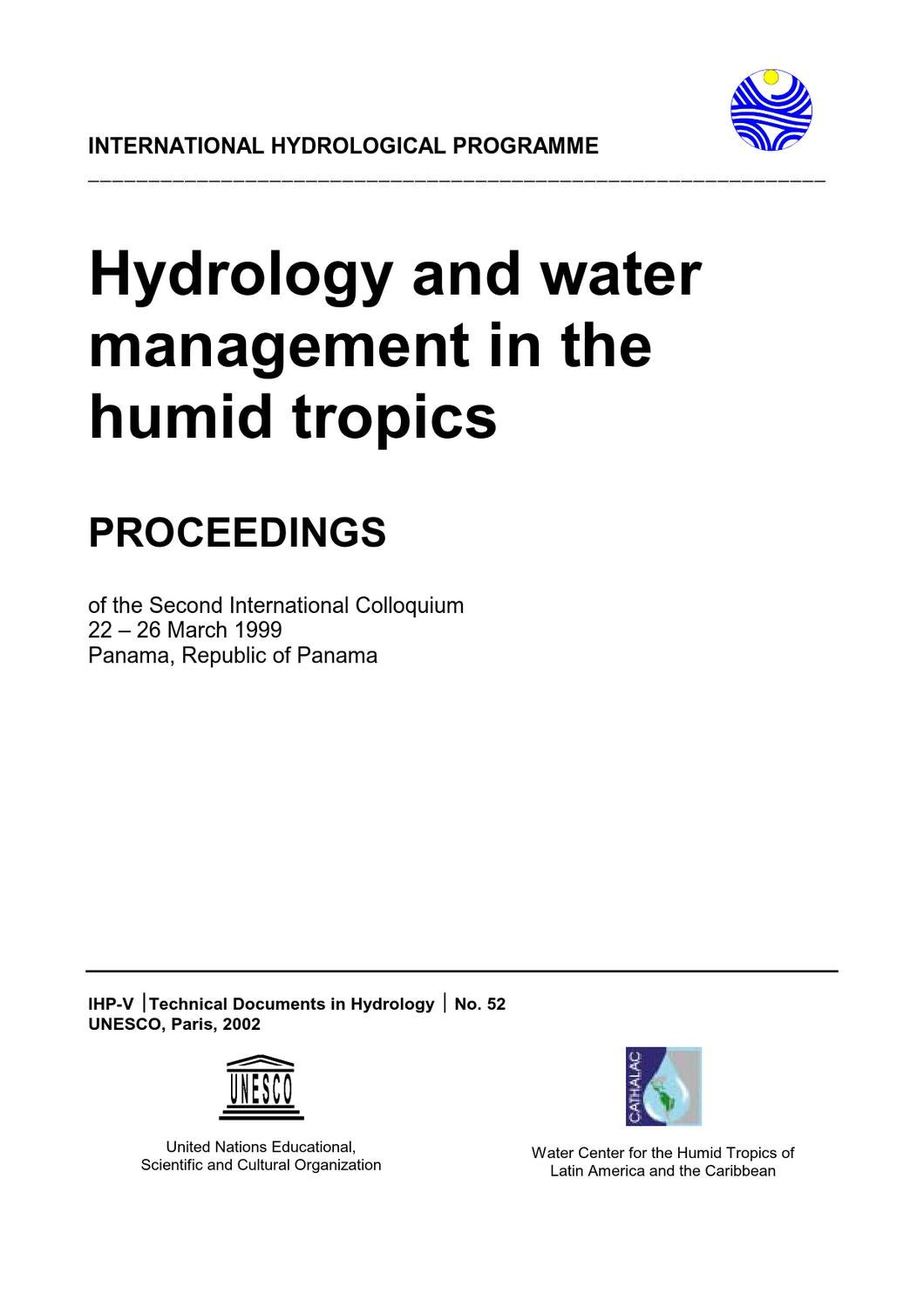 Cash Pooling Y Precios De Transferencia Hydrology And Water Management In The Humid Tropics By
