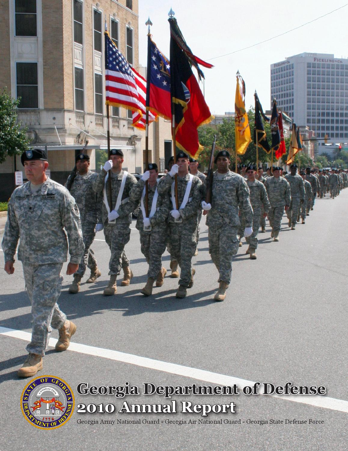 Georgia department of defense 2010 annual report by georgia national guard issuu