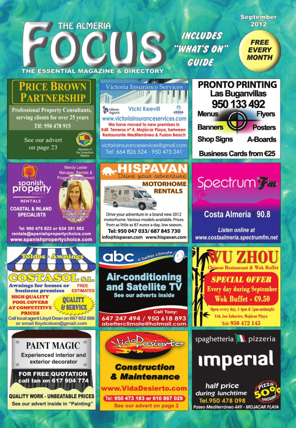 Buffet Libre Granada Kinepolis The Almeria Focus September 2012 By The Almeria Focus Issuu