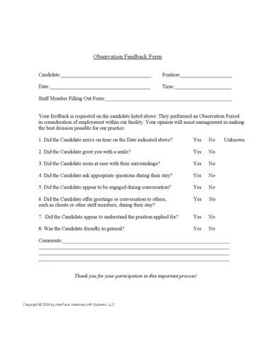 Observation-Feedback-Form by Anne Lupton - issuu - observation feedback form