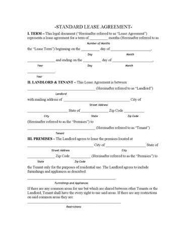 Louisiana Standard Lease Agreement by charles gendroni - issuu
