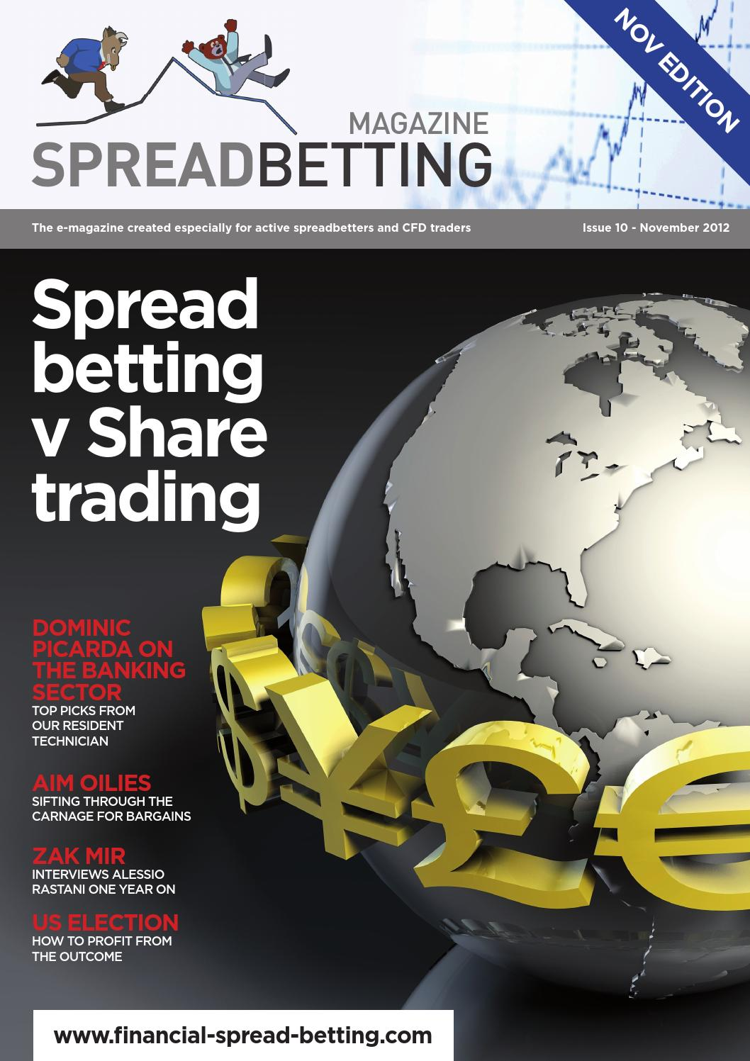 Share Trading Vs Cfd Spread Betting Magazine V10 By Financial Spread Betting