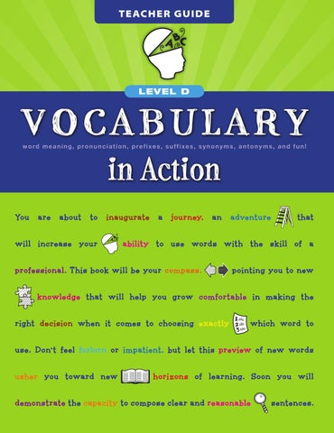 Vocabulary in Action Level D by Loyola Press - issuu - vocabulary workshop level d answers