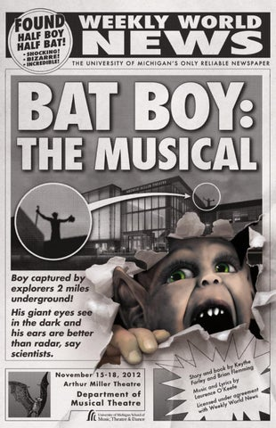 Bat Boy The Musical program by University of Michigan School of