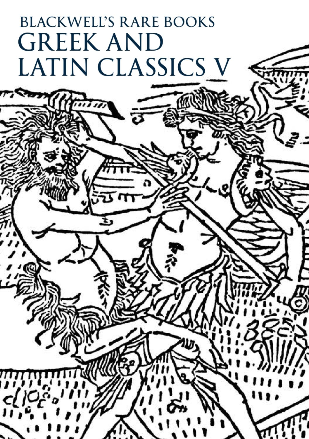 Natura Arte Aucta Translation Greek And Latin Classics V By Blackwell S Issuu