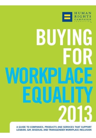 2013 Buyer\u0027s Guide by Human Rights Campaign - issuu