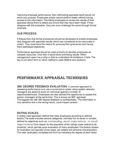 A STUDY ON METHODS OF PERFORMANCE APPRAISAL IN RELIANCE
