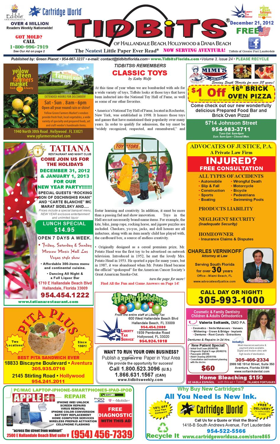 Carte Blanche Cartridges Tidbits Of Greater Ft Lauderdale Vol 3 Issue 24