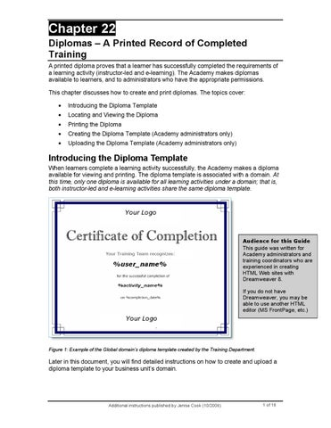 How to Create a Certificate of Completion Learner Diploma in