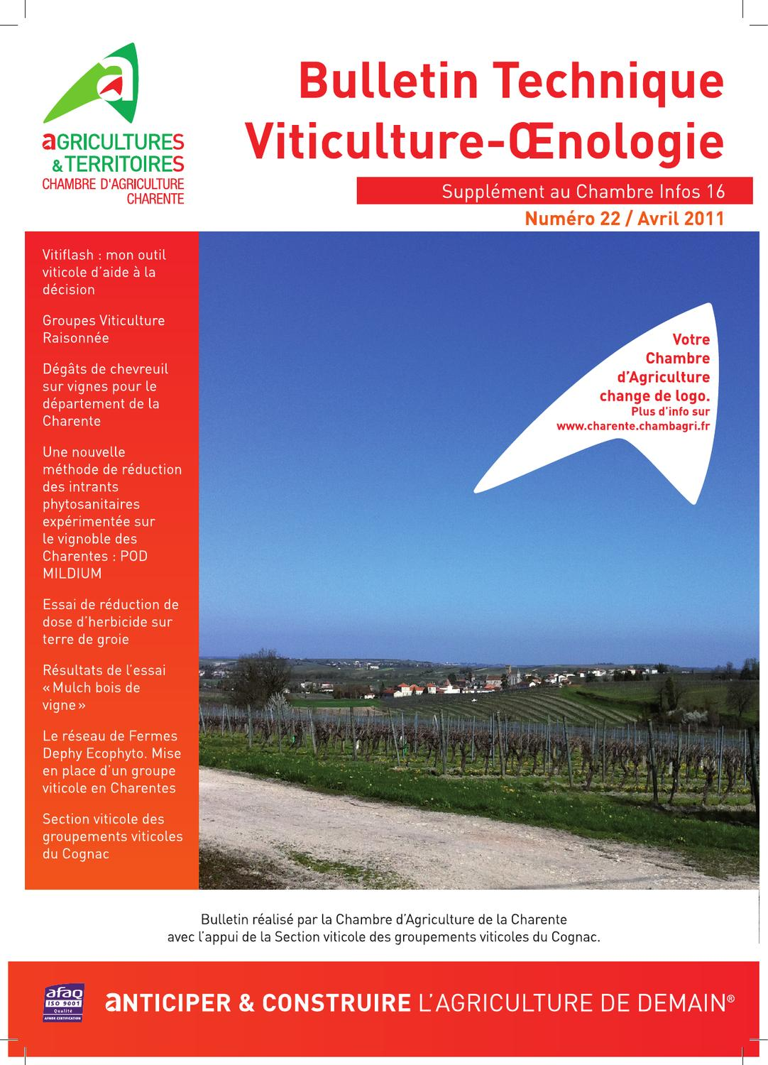 Chambre Agriculture Charente Bt Viticulture Oenologie By Cazaux Sandrine Issuu