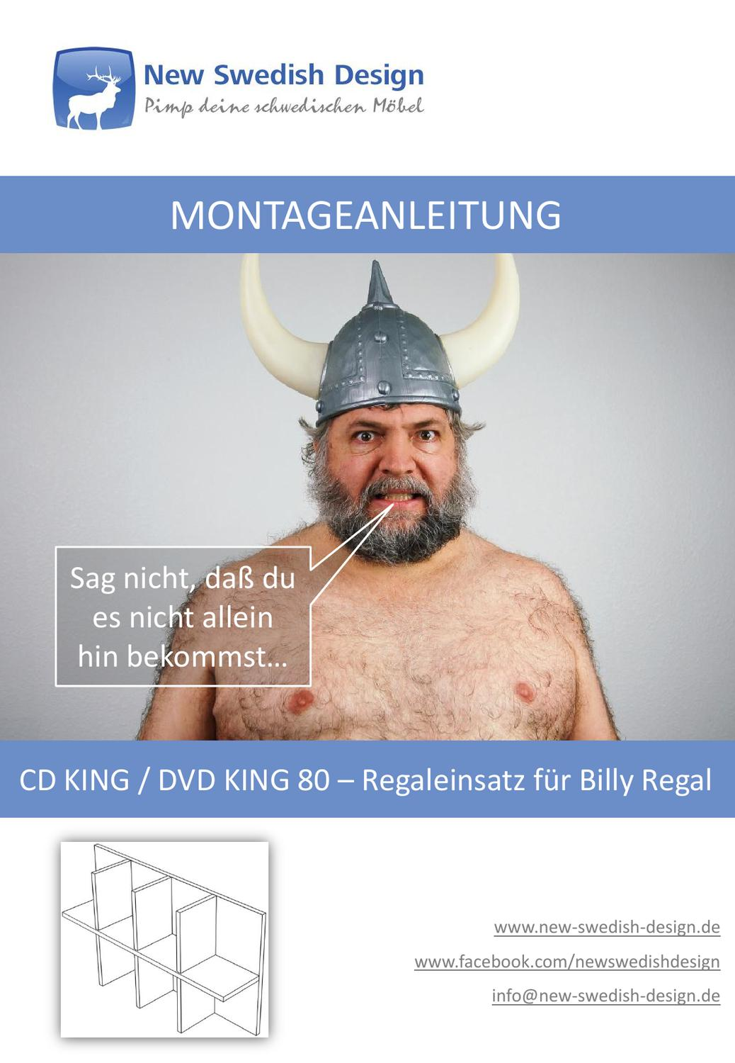 Cd Regaleinsatz Billy Cd King Dvd King 80 Regaleinsatz Montageanleitung By New Swedish