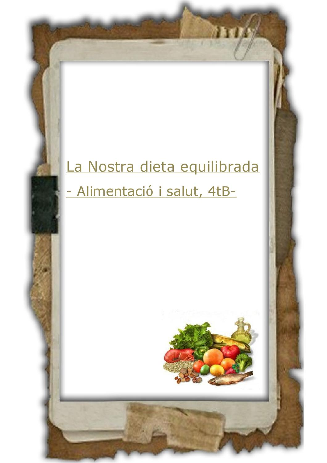 Menu Dieta Equilibrada Revista Aliments By Mestres Montaña Issuu