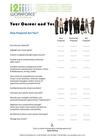 Career Check Sheet and Job Search Tips by Melodie Reagan - issuu