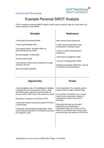 Example SWOT analysis by Rish Baruah - issuu - sample swot analysis